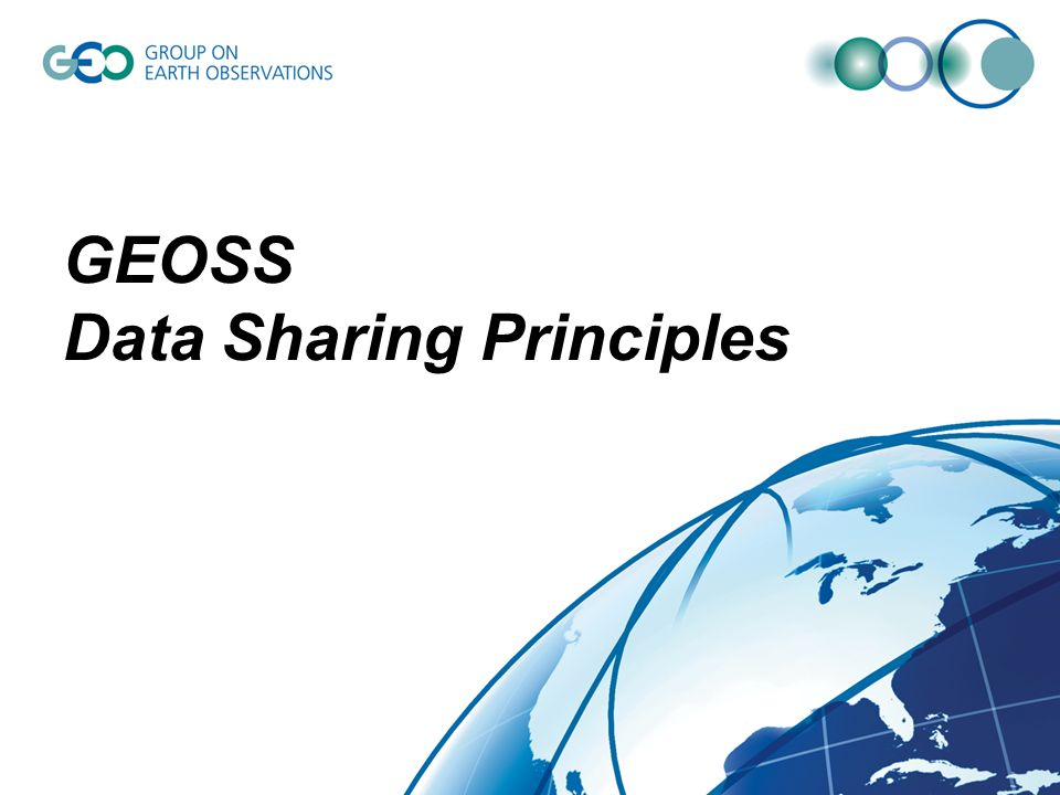 GEOSS Data Sharing Principles