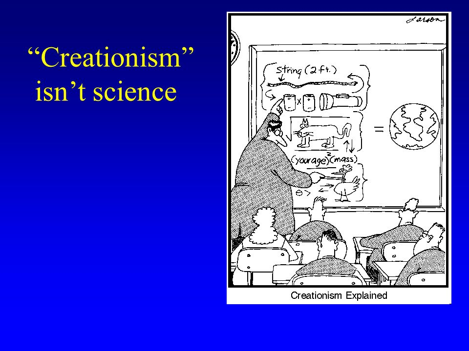 Creationism isnt science