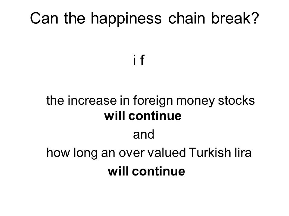 Can the happiness chain break.