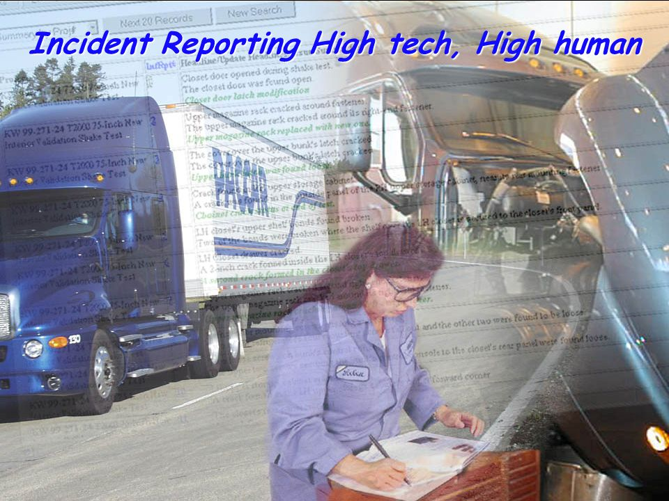 Incident Reporting High tech, High human