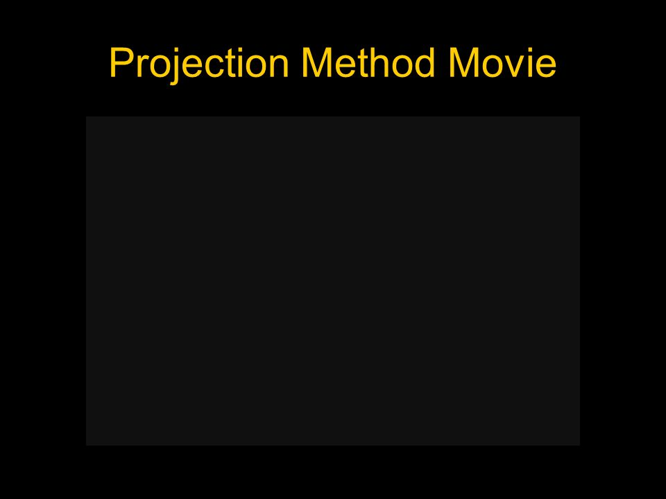 Projection Method Movie
