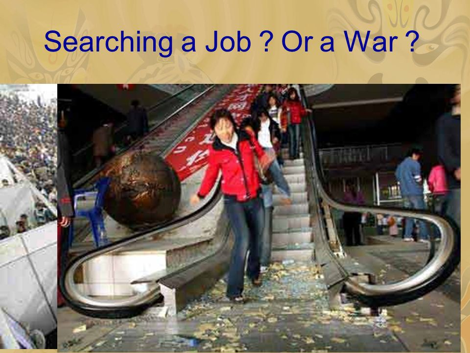 Searching a Job Or a War