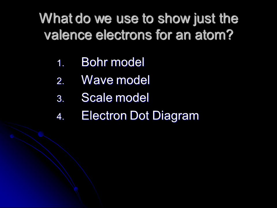 What do we use to show just the valence electrons for an atom.