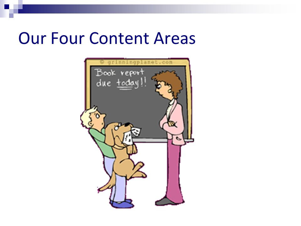 Our Four Content Areas