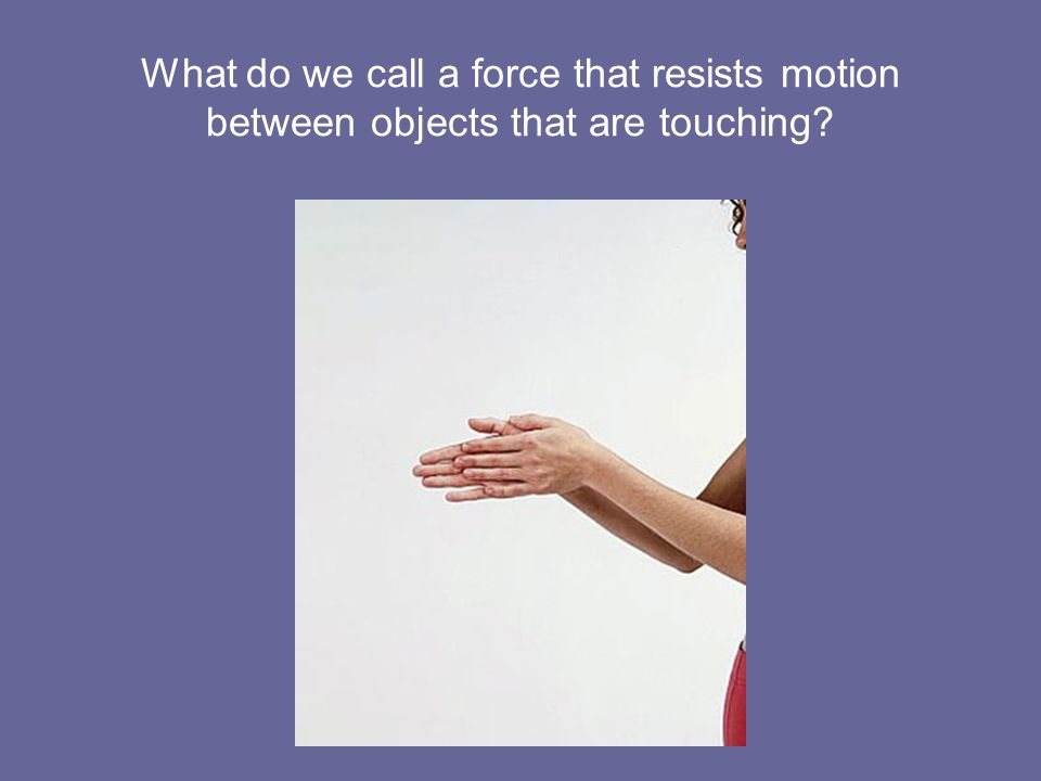 What do we call a force that resists motion between objects that are touching