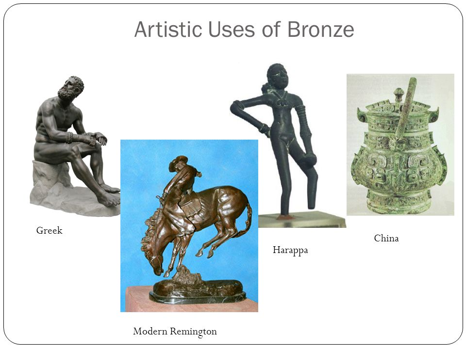 Artistic Uses of Bronze Greek Harappa China Modern Remington