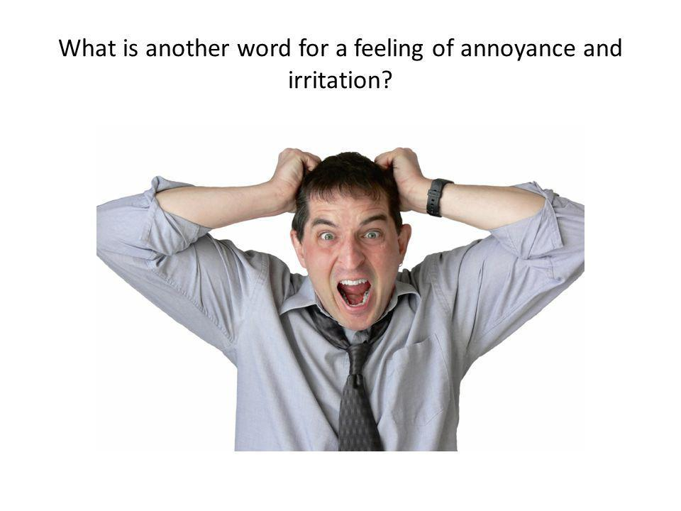 What is another word for a feeling of annoyance and irritation