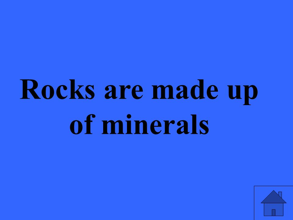 How are rocks and minerals related
