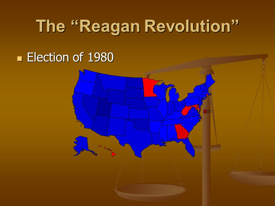 The Reagan Revolution Election of 1980 Election of 1980