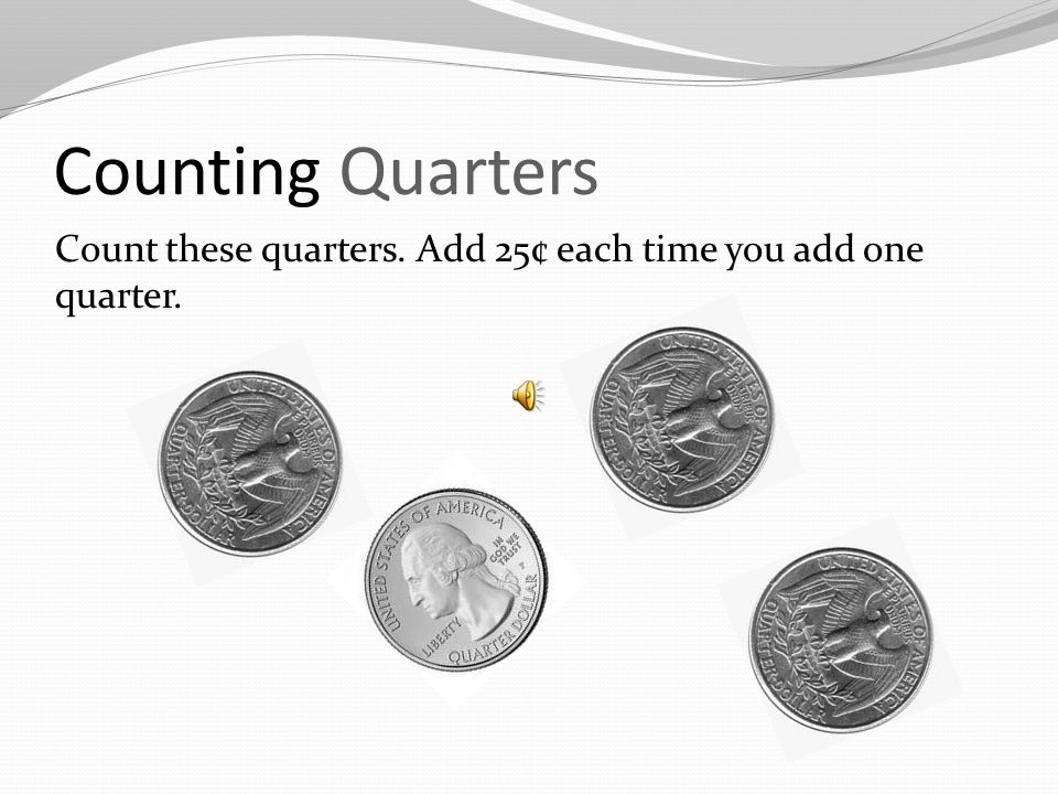 Counting Dimes Did you count 70 ¢