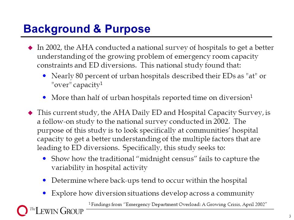 Hospital Capacity and Emergency Department Diversion: Four Community