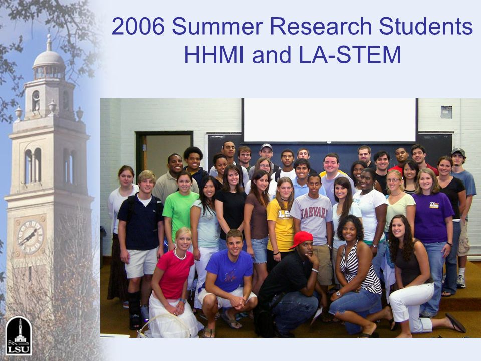 2006 Summer Research Students HHMI and LA-STEM