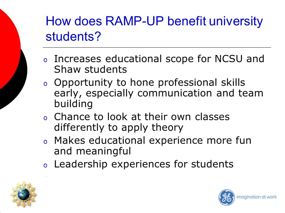 How does RAMP-UP benefit university students.