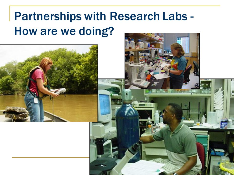Partnerships with Research Labs - How are we doing