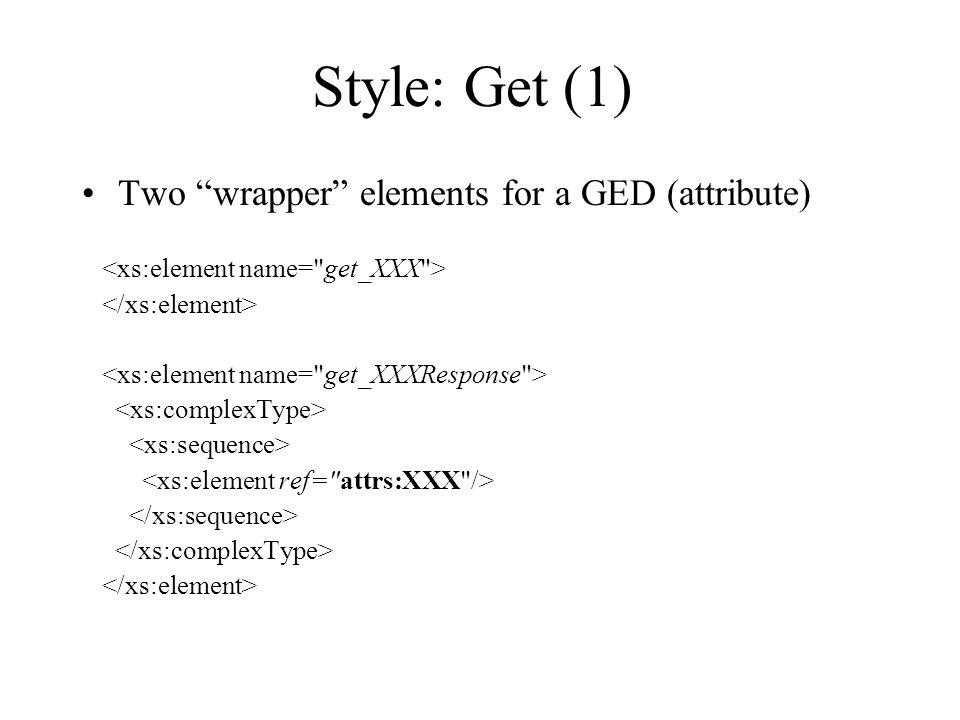 Style: Get (1) Two wrapper elements for a GED (attribute)