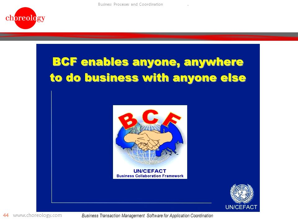 Business Transaction Management Software for Application Coordination 44   Business Processes and Coordination.