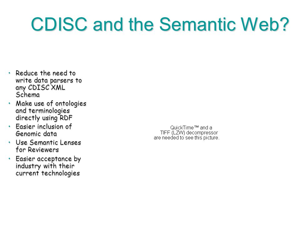 84 CDISC and the Semantic Web.