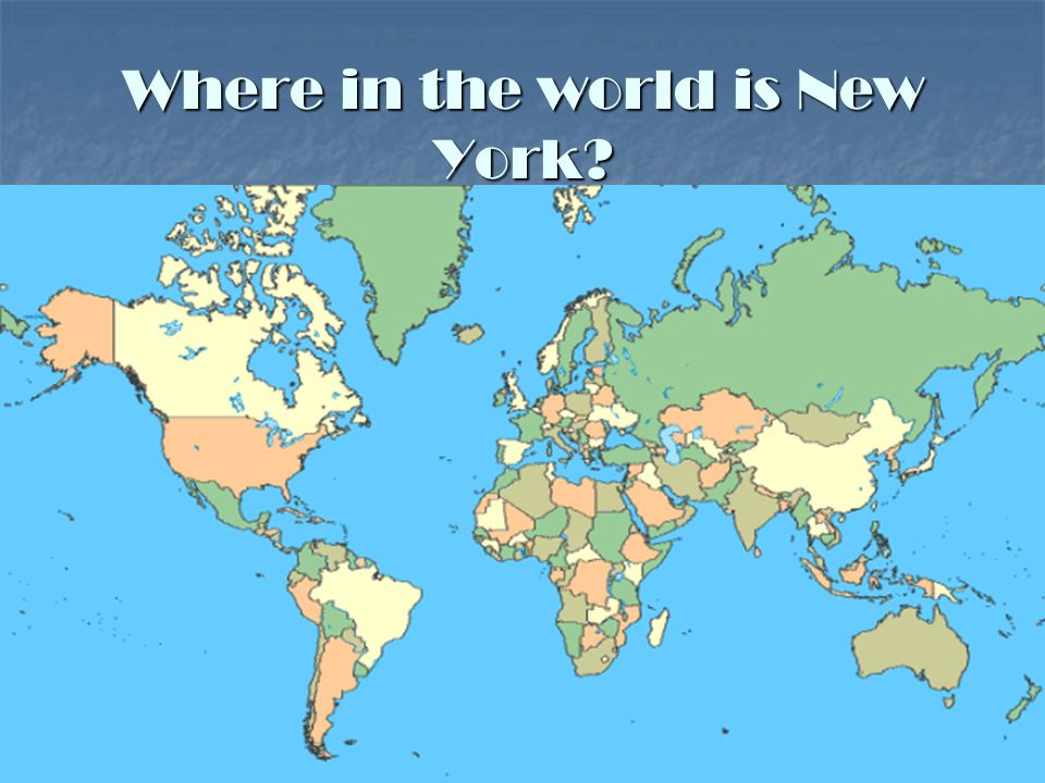 Where in the world is New York