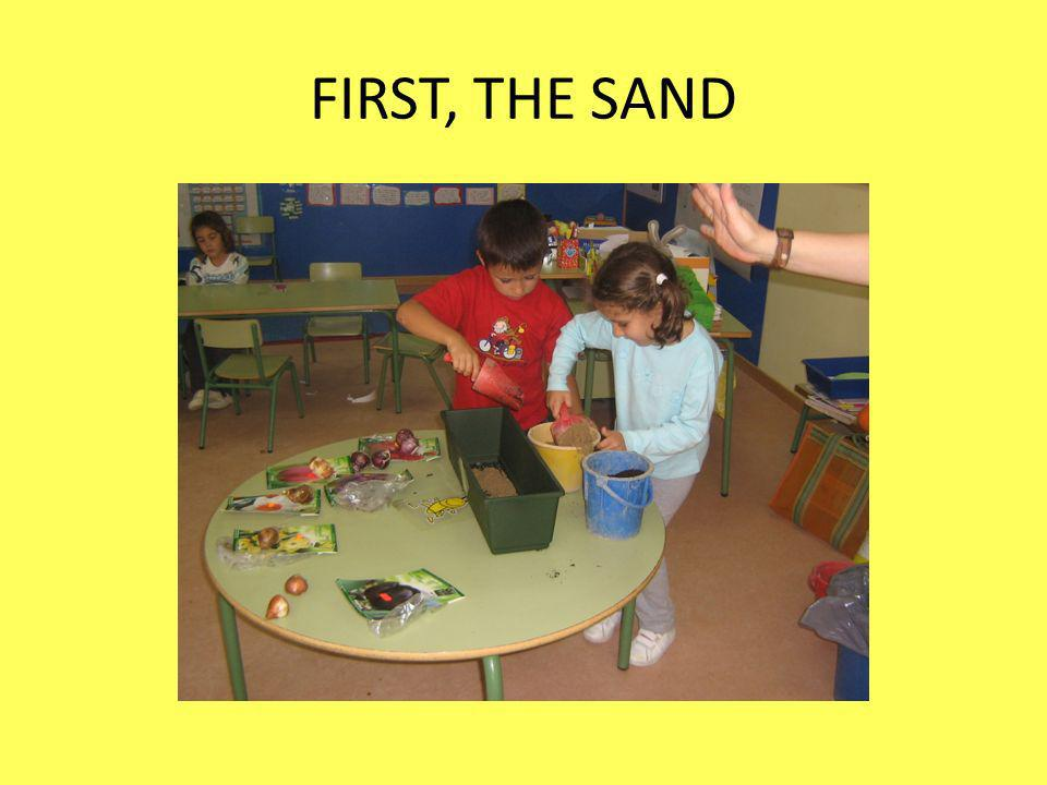 FIRST, THE SAND