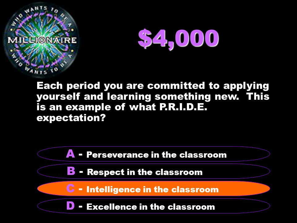 $4,000 Each period you are committed to applying yourself and learning something new.
