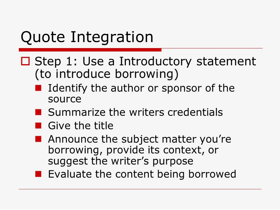 Grammar Rules 60 Quotations Quote Integration Step 60 Use A Interesting Quote Integration