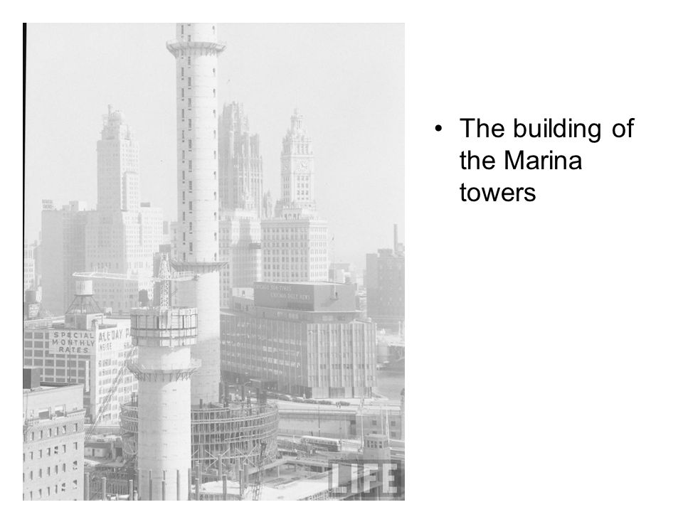 The building of the Marina towers