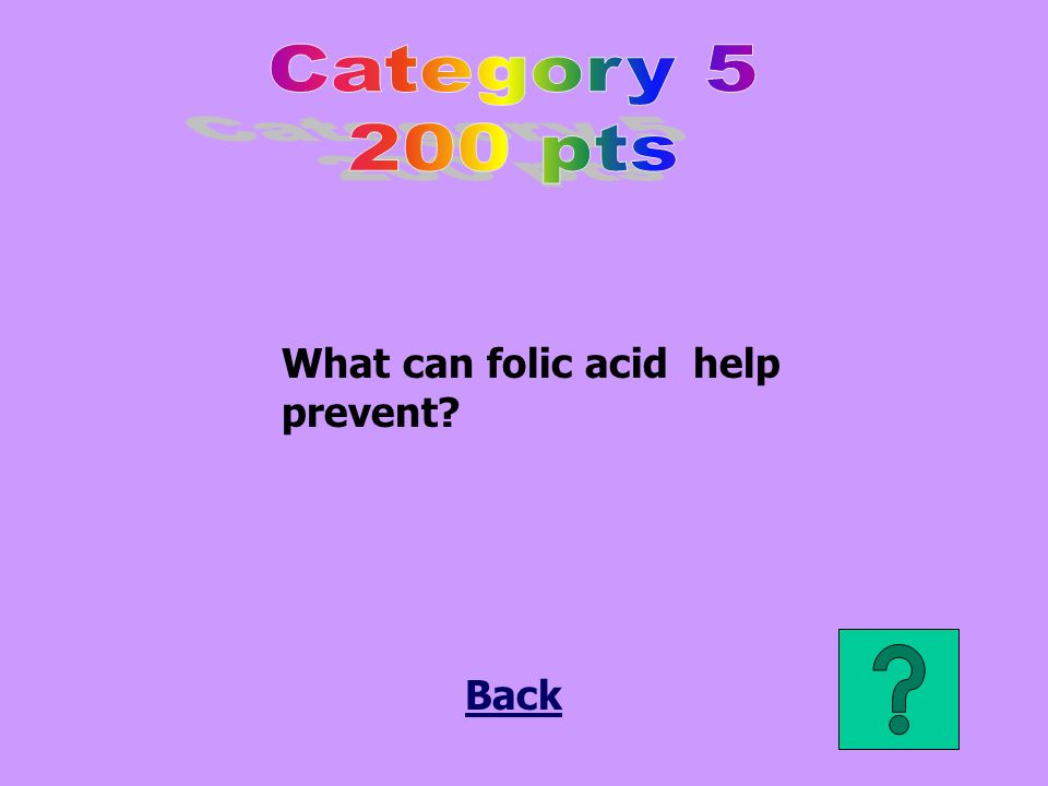 What can folic acid help prevent