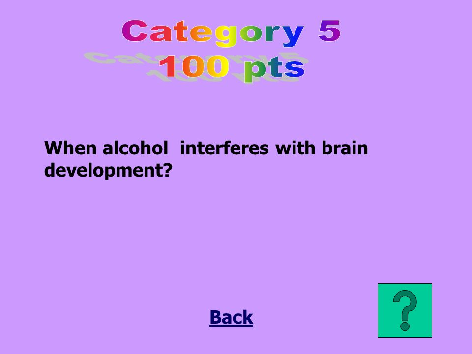 When alcohol interferes with brain development Back