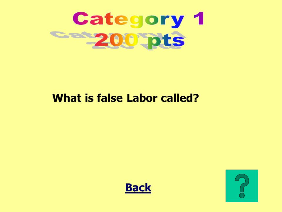 What is false Labor called