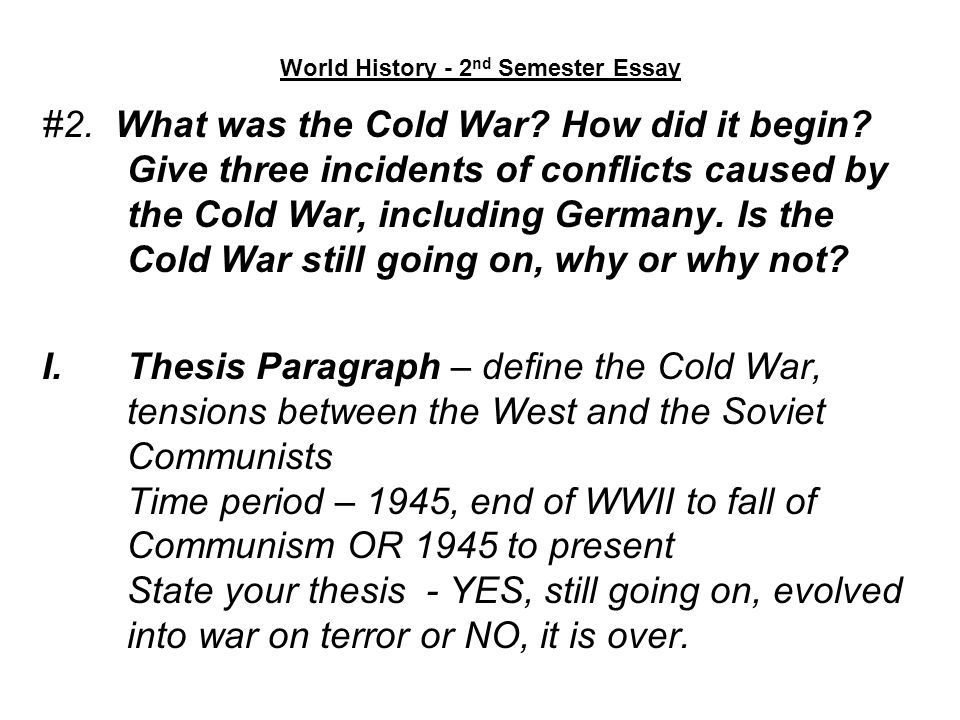 cold war thesis examples