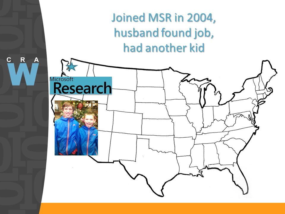 Joined MSR in 2004, husband found job, had another kid