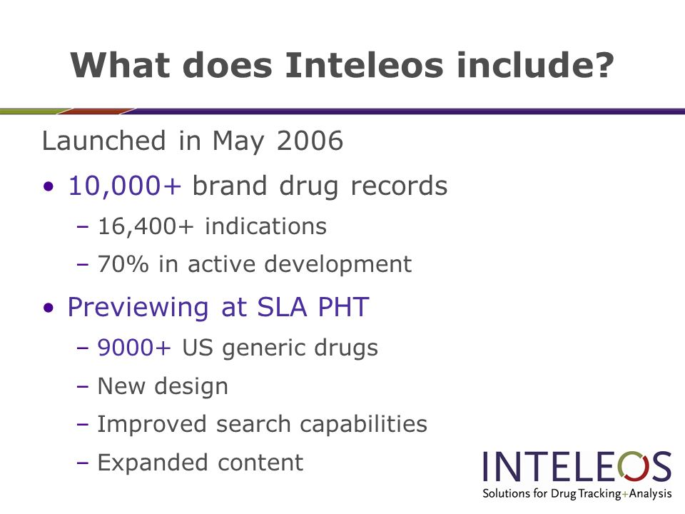 What does Inteleos include.