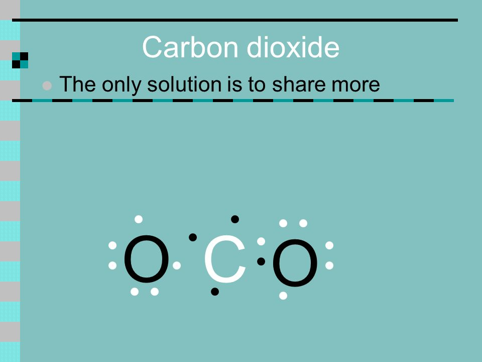 Carbon dioxide l The only solution is to share more O C O