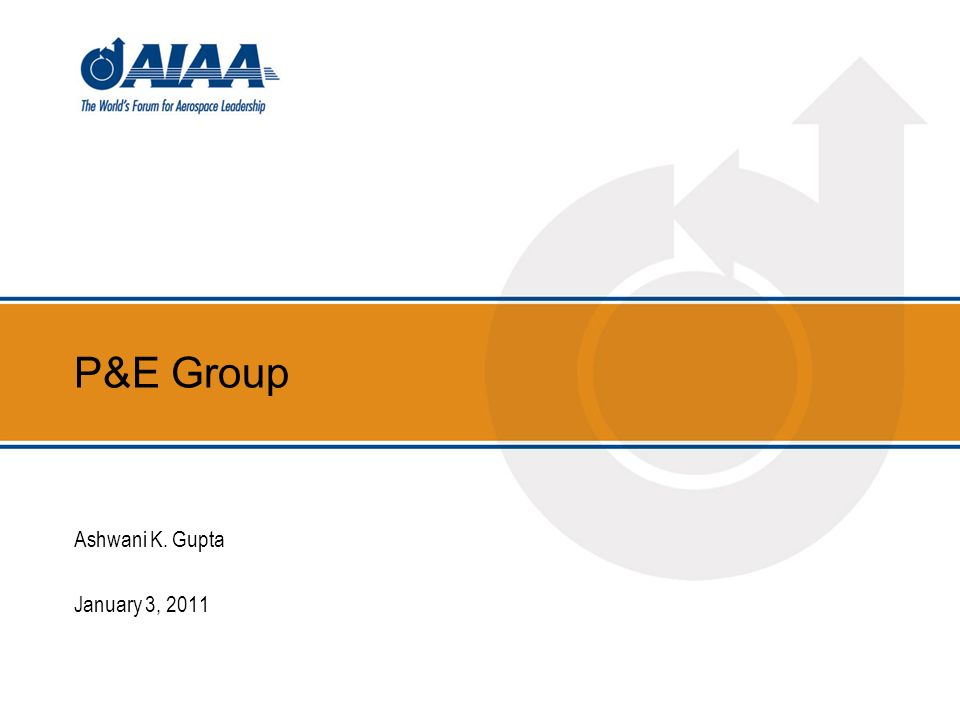P&E Group Ashwani K. Gupta January 3, 2011