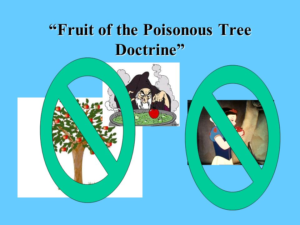 Fruit of the Poisonous Tree Doctrine