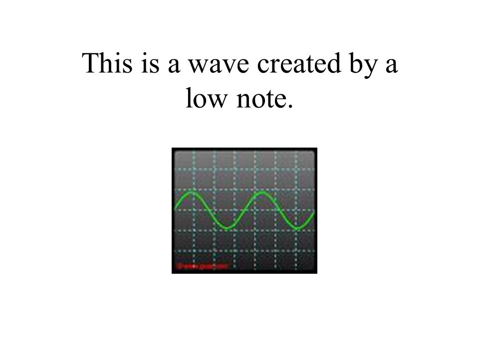 This is a wave created by a low note.