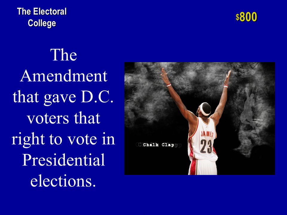 One of two elections in which the House of Representatives chose the President of the United States.