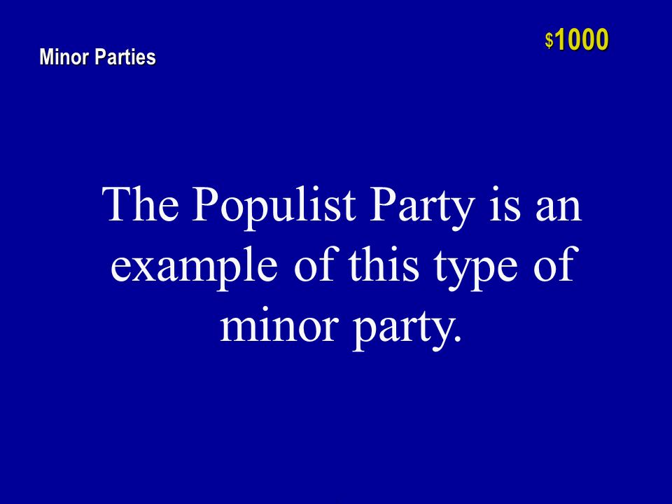h $ 800 Minor Parties One of the two elections lost by the Republican Party between 1896 and 1928.
