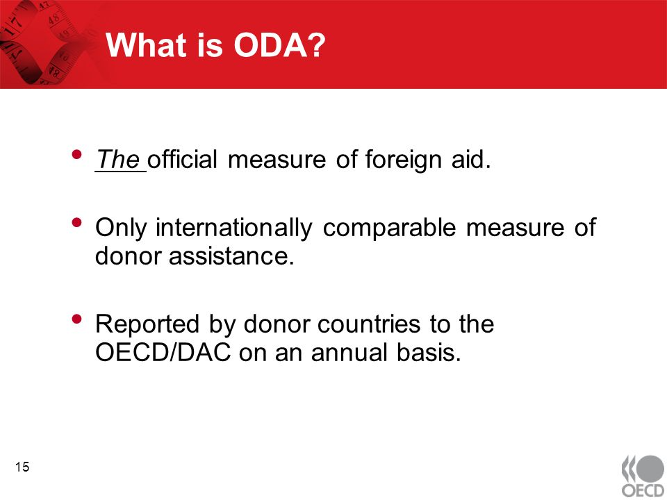 What is ODA. The official measure of foreign aid.