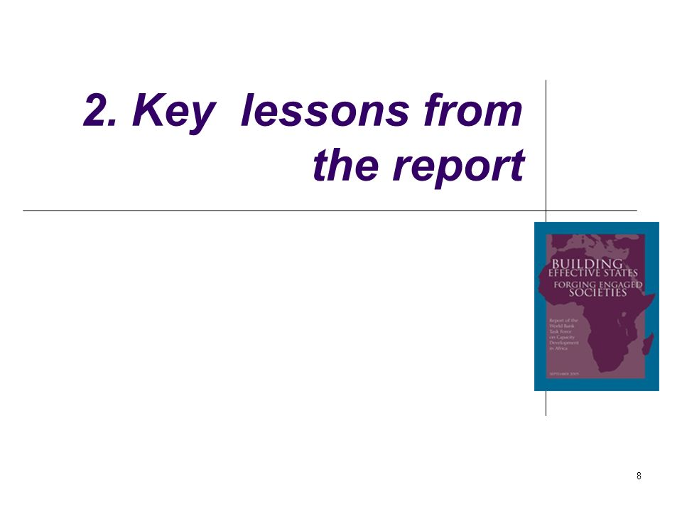 8 2. Key lessons from the report