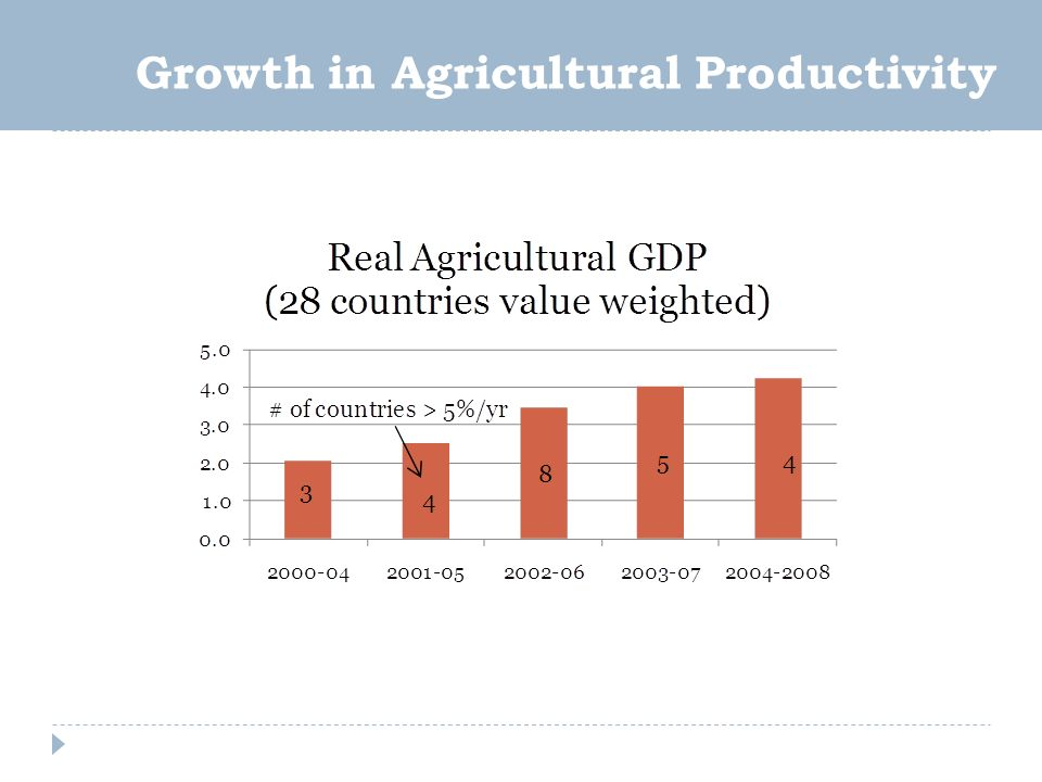 Growth in Agricultural Productivity