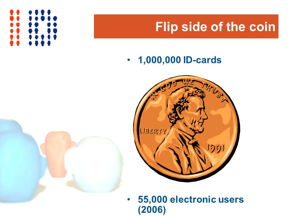 Flip side of the coin 1,000,000 ID-cards 55,000 electronic users (2006)