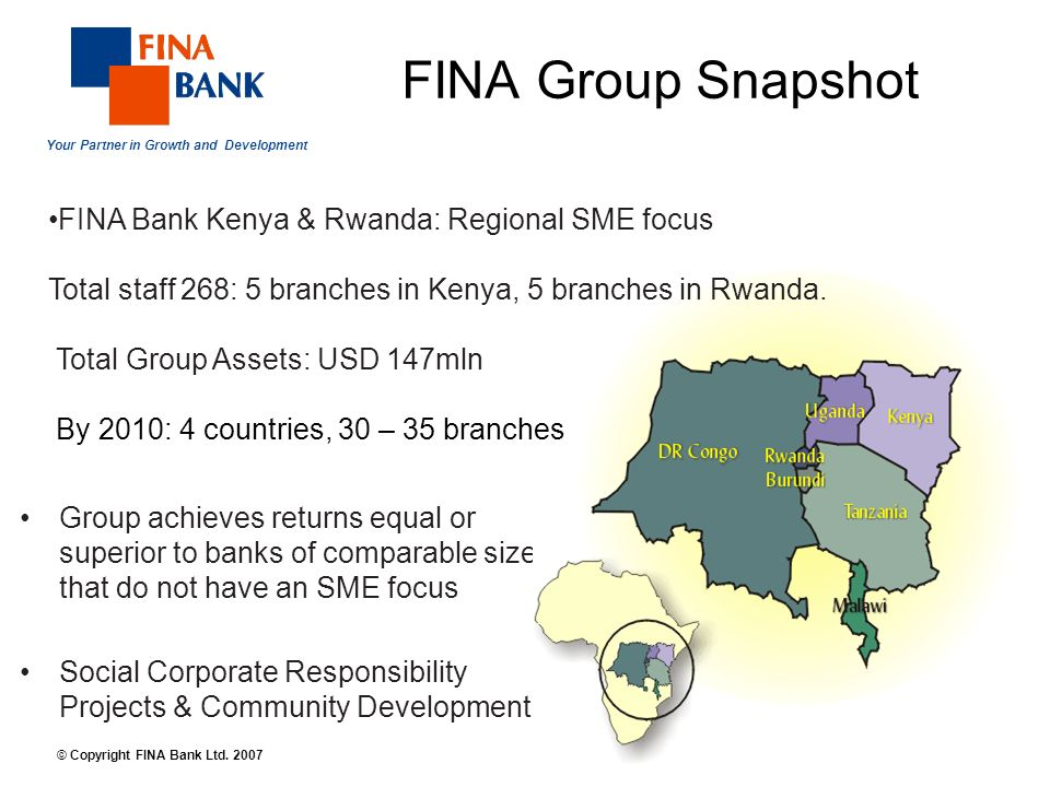 Your Partner in Growth and Development 9 © Copyright FINA Bank Ltd.