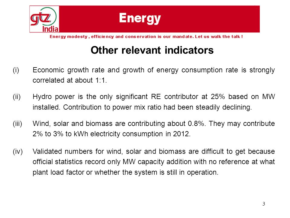 3 (i) Economic growth rate and growth of energy consumption rate is strongly correlated at about 1:1.