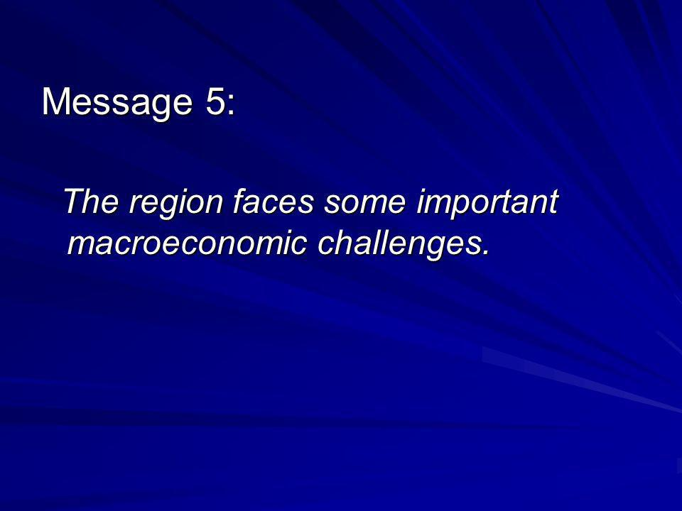 Message 5: The region faces some important macroeconomic challenges.