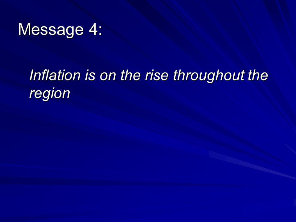 Message 4: Inflation is on the rise throughout the region