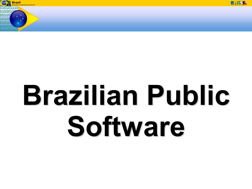 Brazilian Public Software