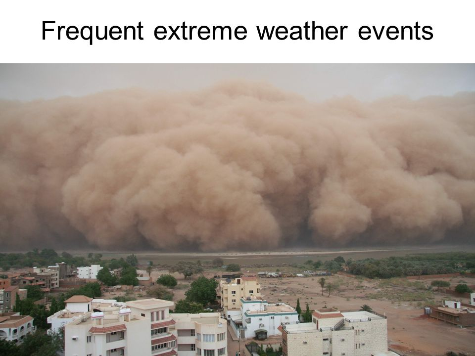 Frequent extreme weather events