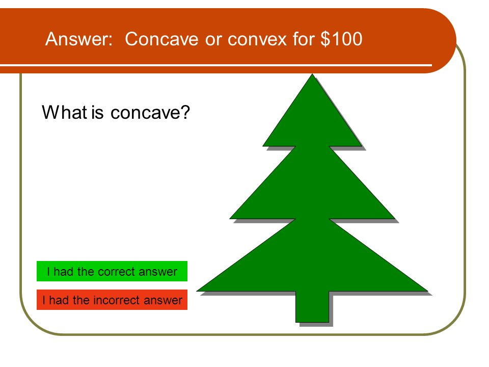 What is concave.
