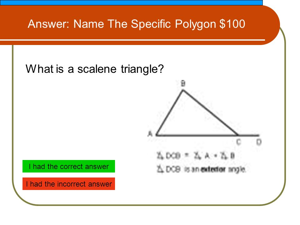 What is a scalene triangle.